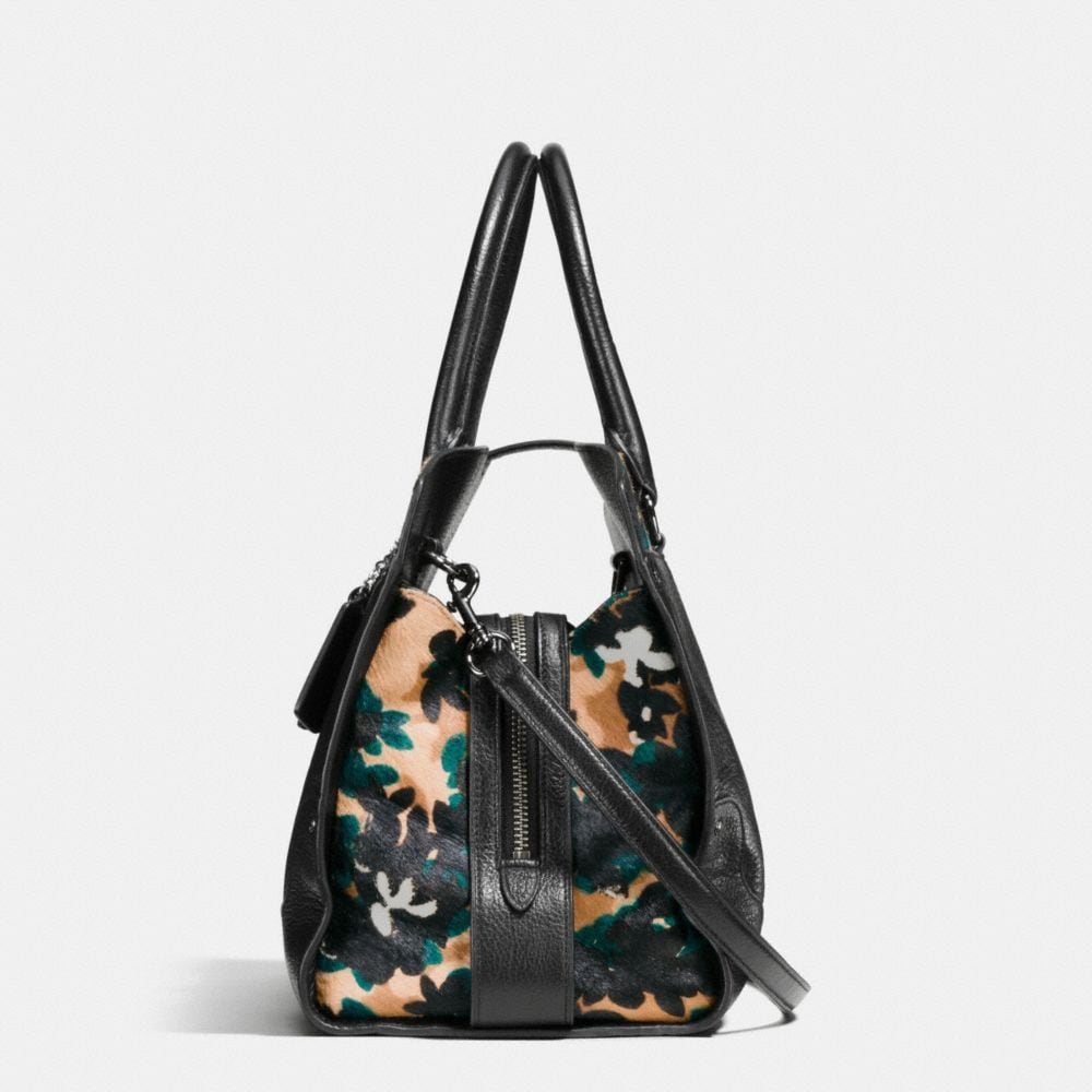Mercer Satchel in Printed Haircalf - Alternate View A1