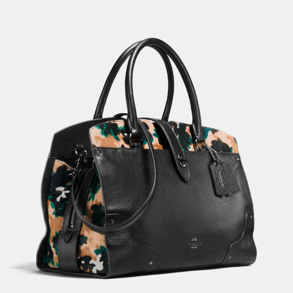 Mercer Satchel in Printed Haircalf - Alternate View A2