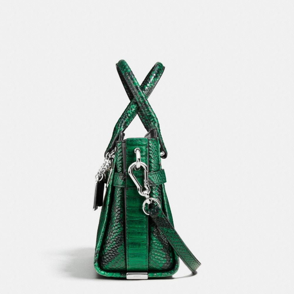 COACH SWAGGER 21 IN SNAKE-EMBOSSED LEATHER - Autres affichages A1