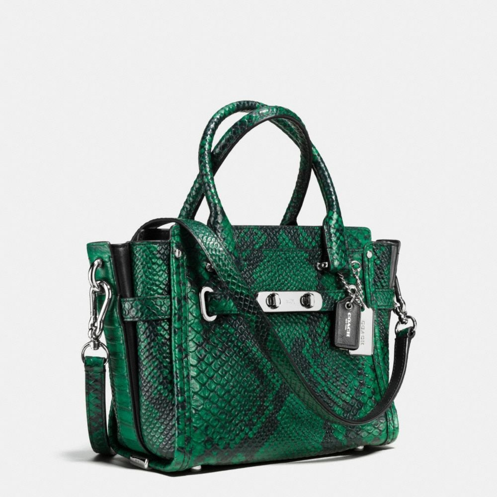 Coach Swagger 21 in Snake-Embossed Leather - Alternate View A2