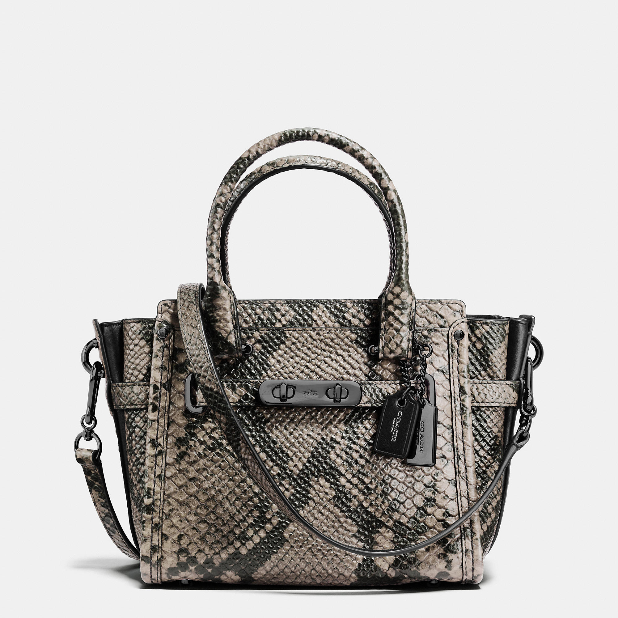 Coach Swagger 21 Carryall In Snake-Embossed Leather
