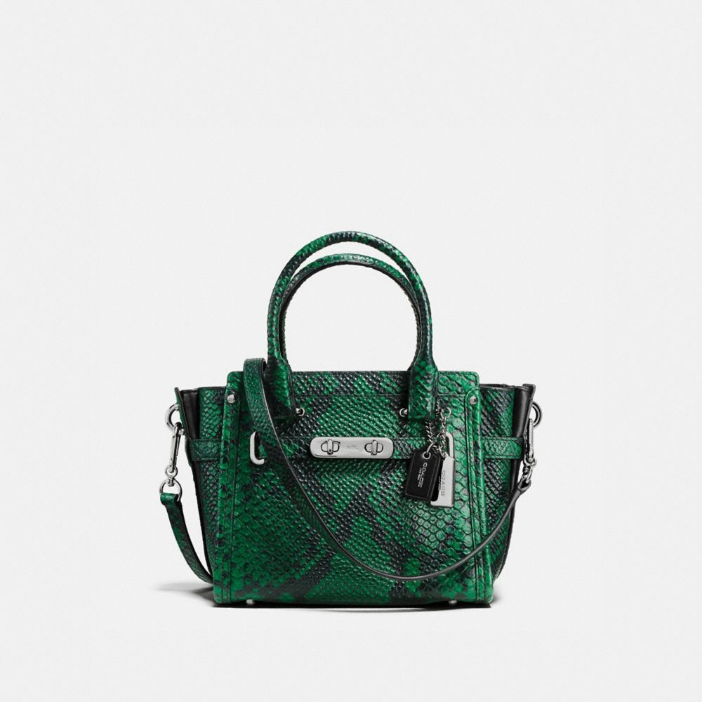 COACH SWAGGER 21 IN SNAKE-EMBOSSED LEATHER