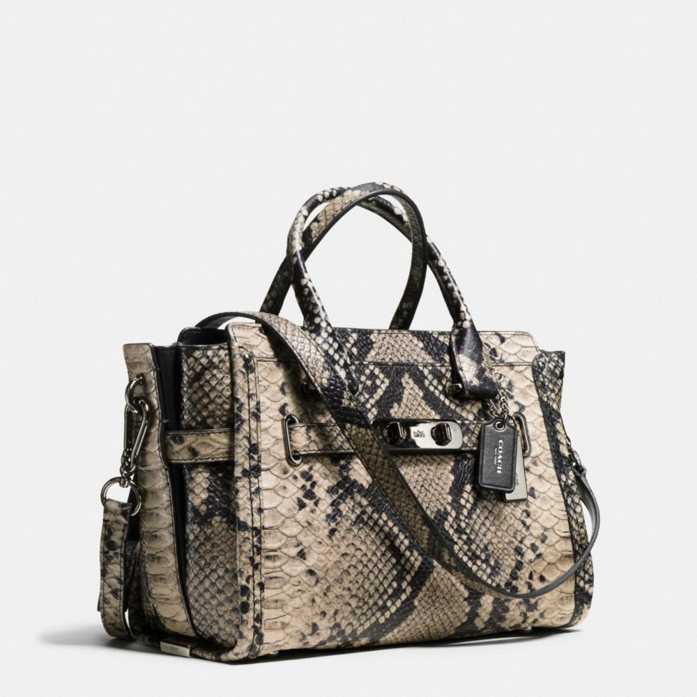 Coach Coach Swagger 27 Carryall in Snake-Embossed Leather Alternate View 2