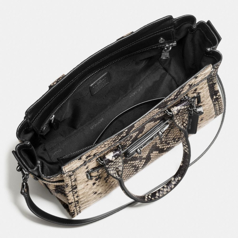 Coach Coach Swagger 27 Carryall in Snake-Embossed Leather Alternate View 3