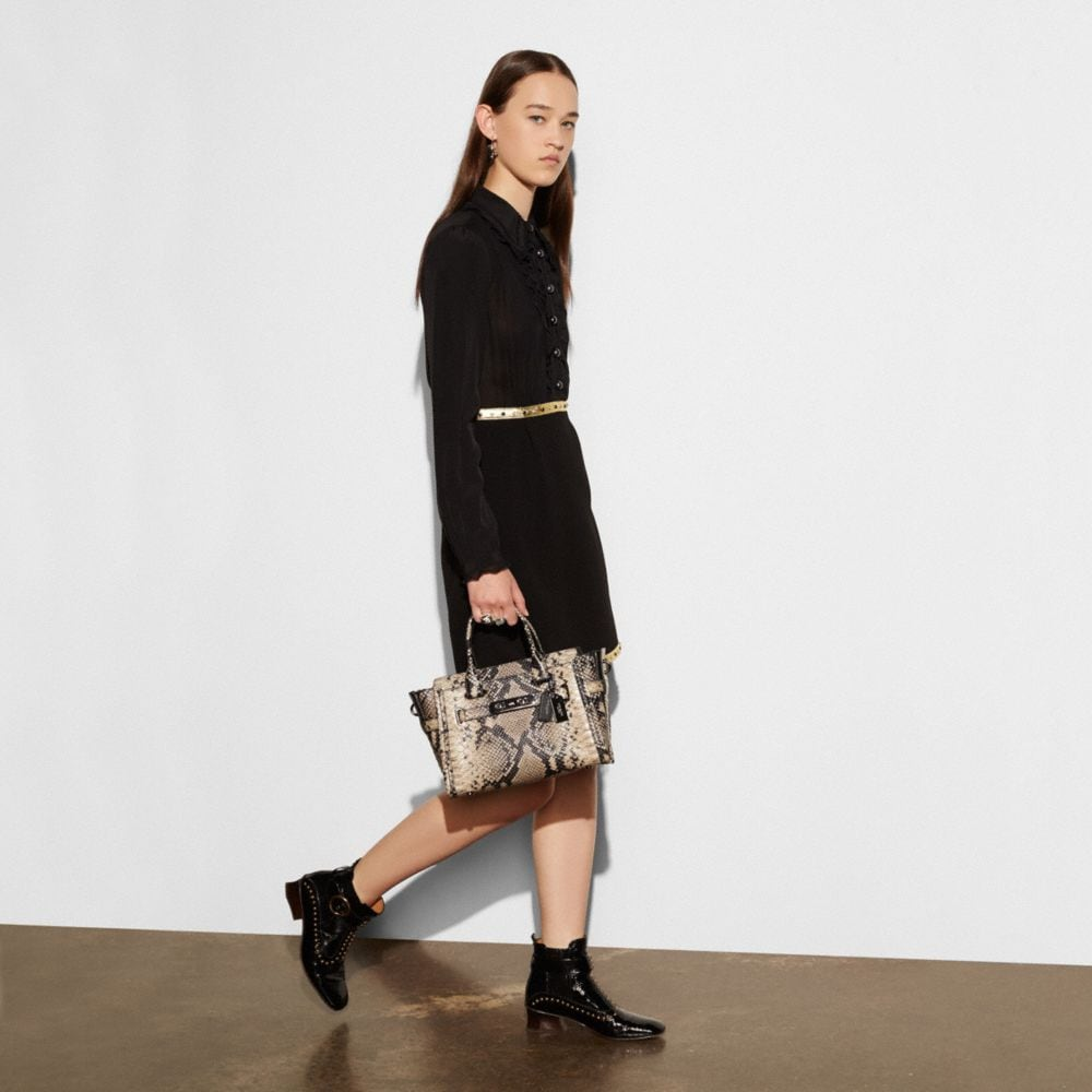 Coach Coach Swagger 27 Carryall in Snake-Embossed Leather Alternate View 5