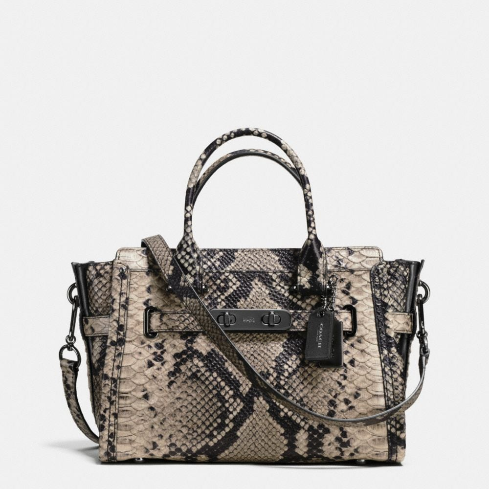 COACH SWAGGER 27 CARRYALL IN SNAKE-EMBOSSED LEATHER