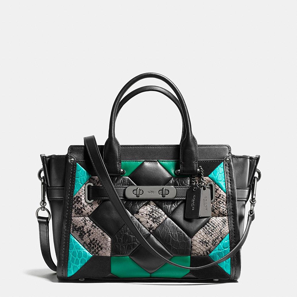 Coach Designer Handbags Canyon Quilt Coach Swagger 27 In