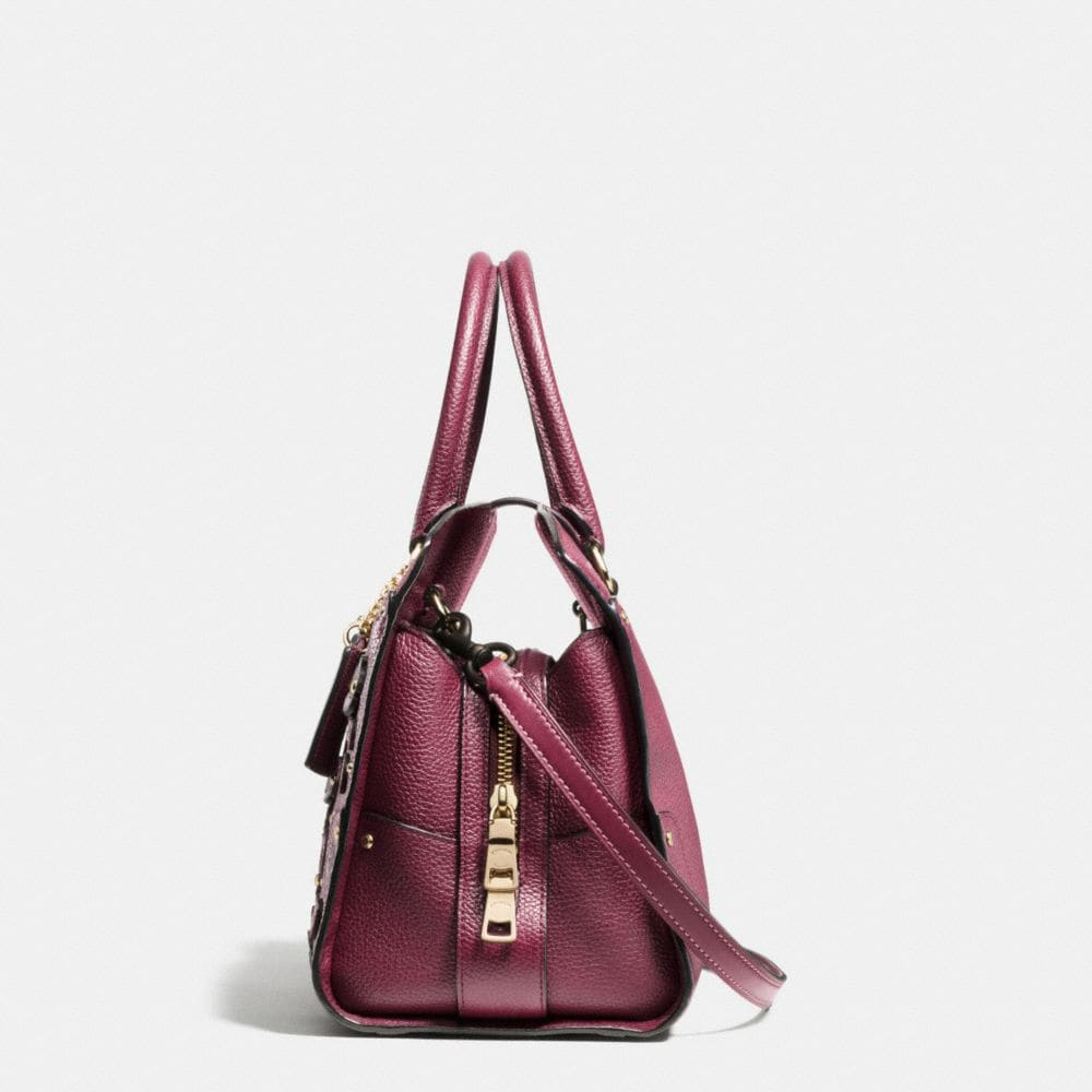 Coach Willow Floral Mercer Satchel 30 in Grain Leather Alternate View 1