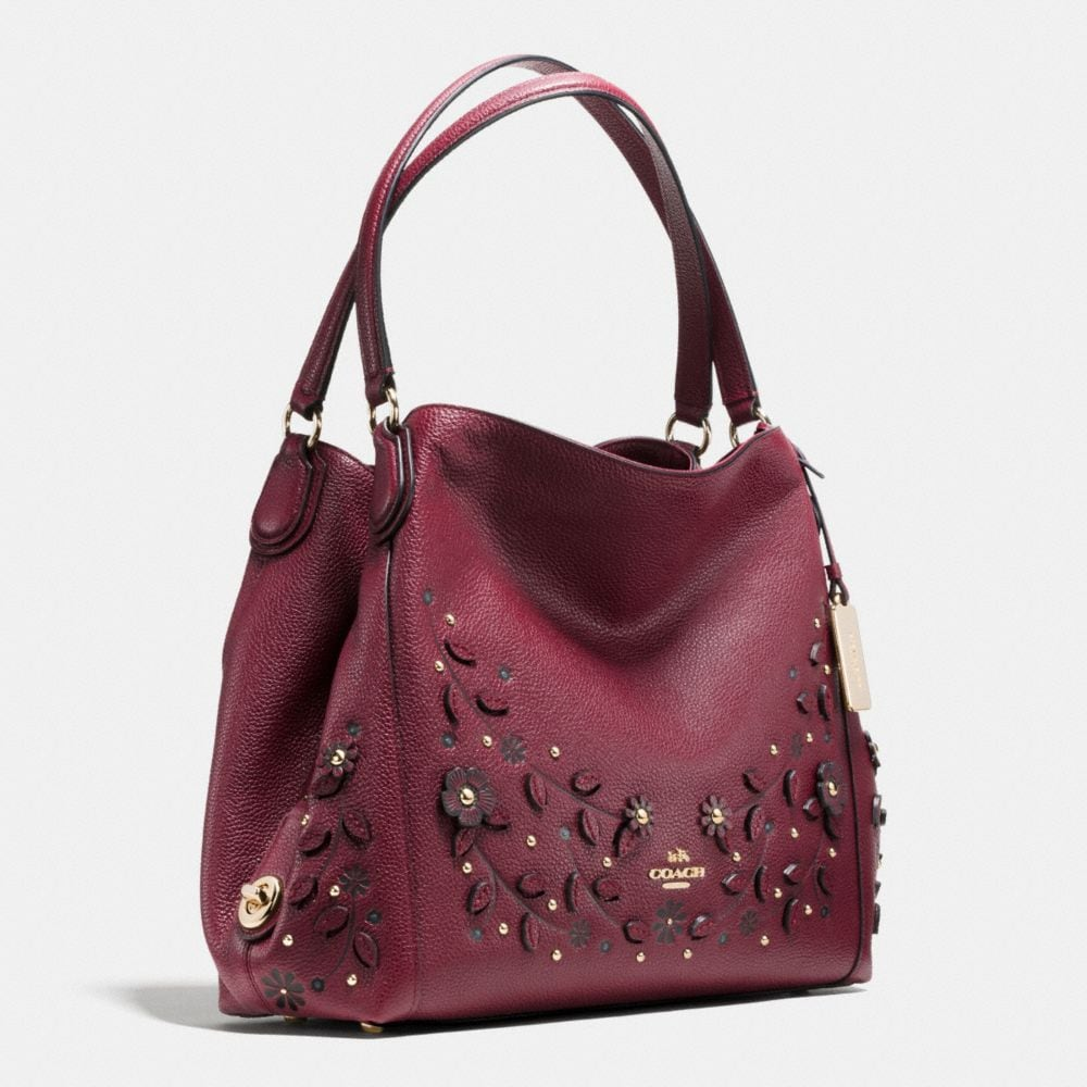 Coach Willow Floral Edie Shoulder Bag 31 in Pebble Leather Alternate View 2