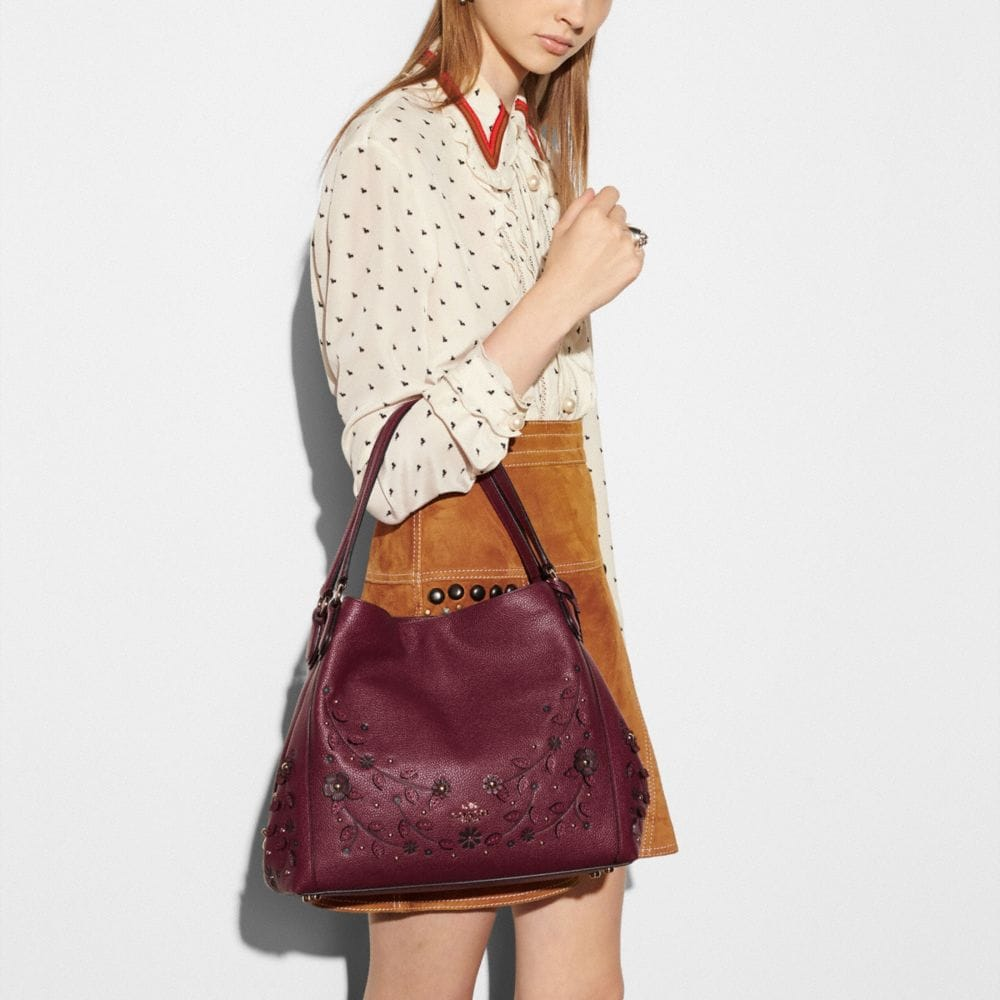 WILLOW FLORAL EDIE SHOULDER BAG 31 IN PEBBLE LEATHER - Alternate View A4