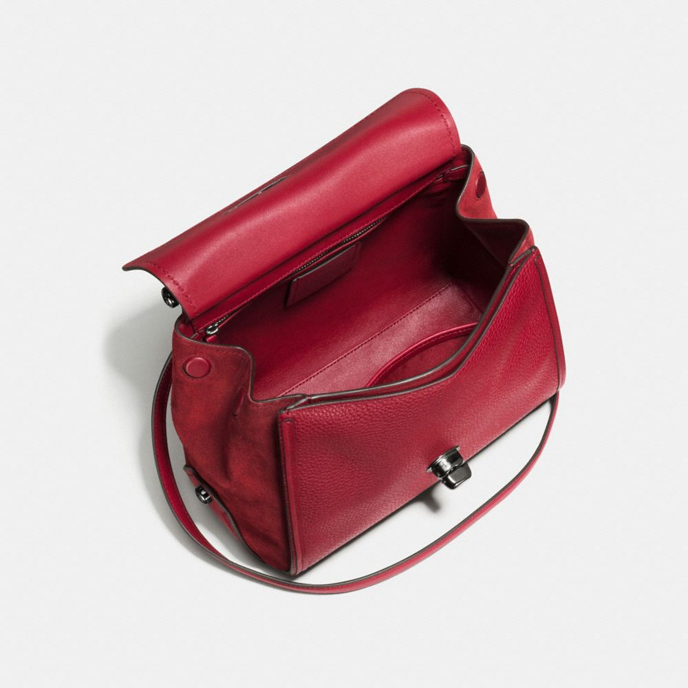 DRIFTER TOP HANDLE SATCHEL IN MIXED LEATHER - Alternate View A2
