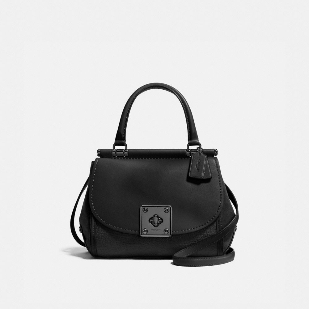 DRIFTER TOP HANDLE SATCHEL IN MIXED LEATHER