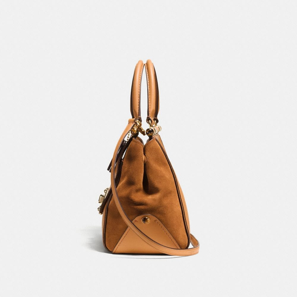 DRIFTER CARRYALL IN MIXED LEATHERS - Alternate View