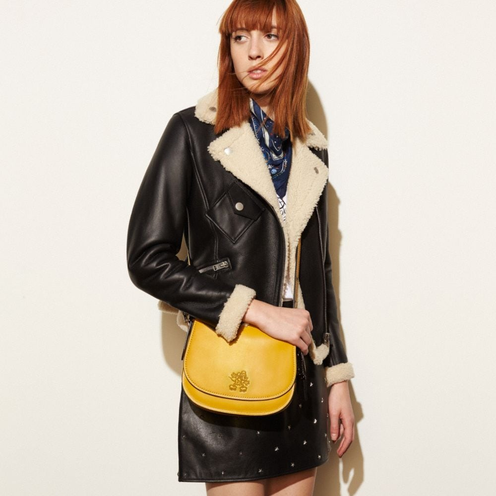 Coach Mickey Saddle Bag 23 in Glovetanned Leather Alternate View 4