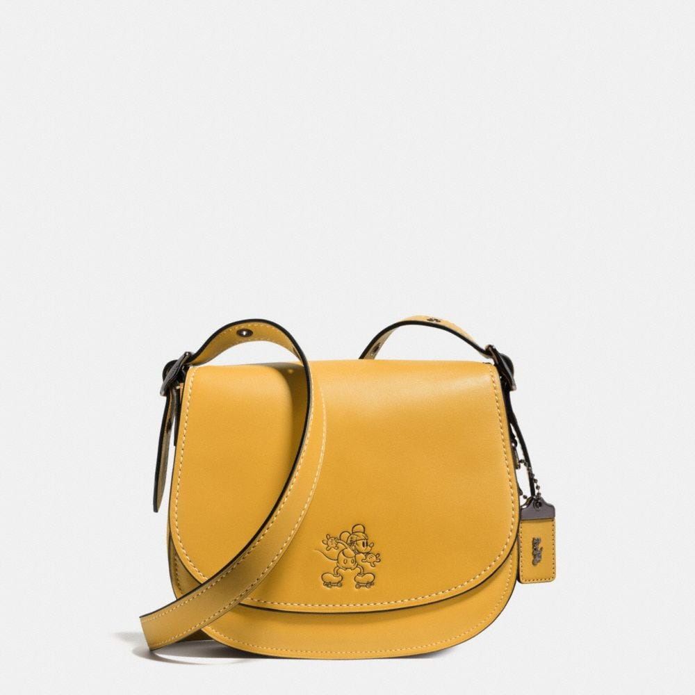 Coach Mickey Saddle Bag 23 in Glovetanned Leather