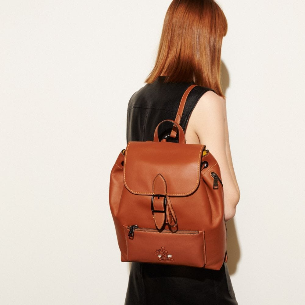Coach Mickey Rainger Backpack in Glovetanned Leather Alternate View 4