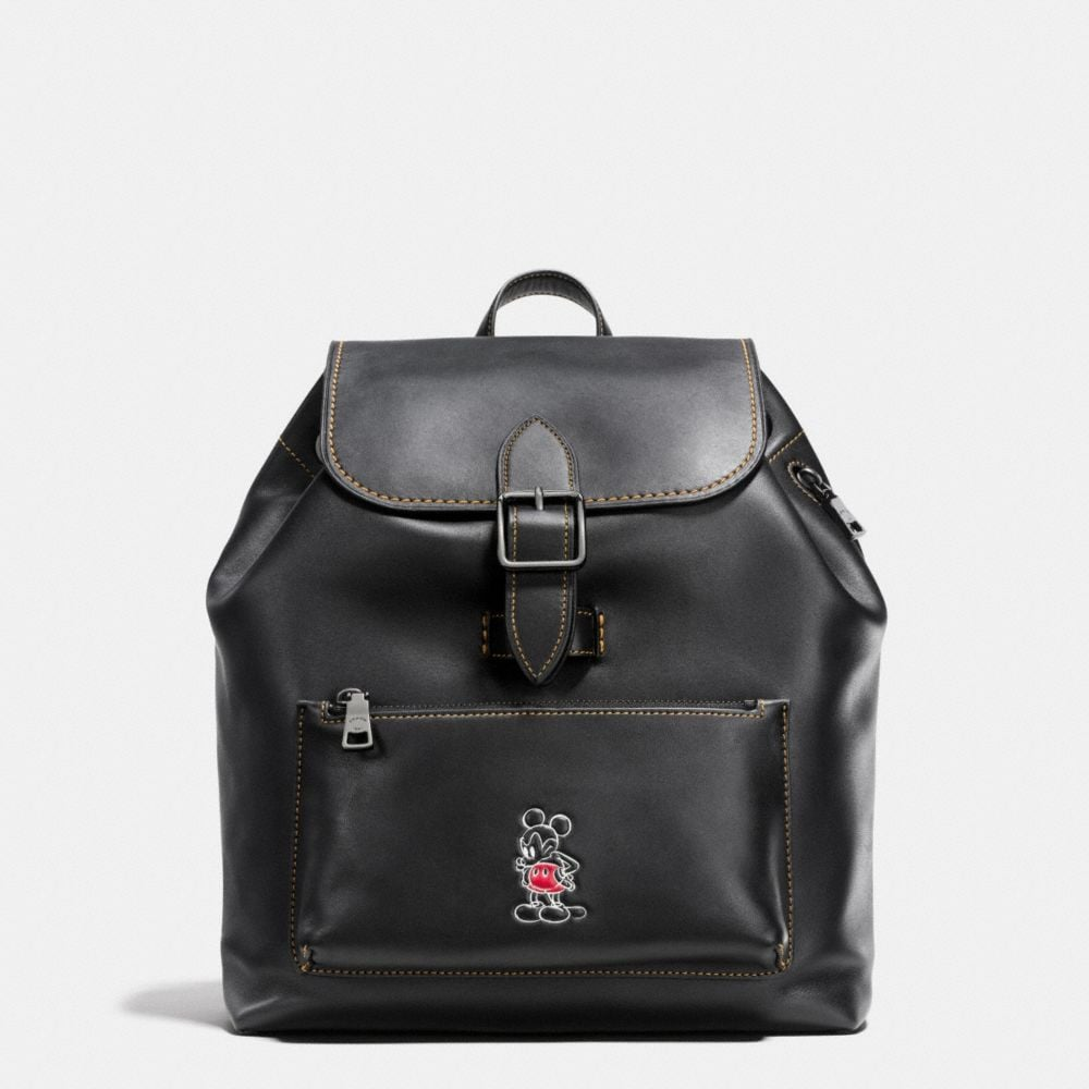 Coach Mickey Rainger Backpack in Glovetanned Leather