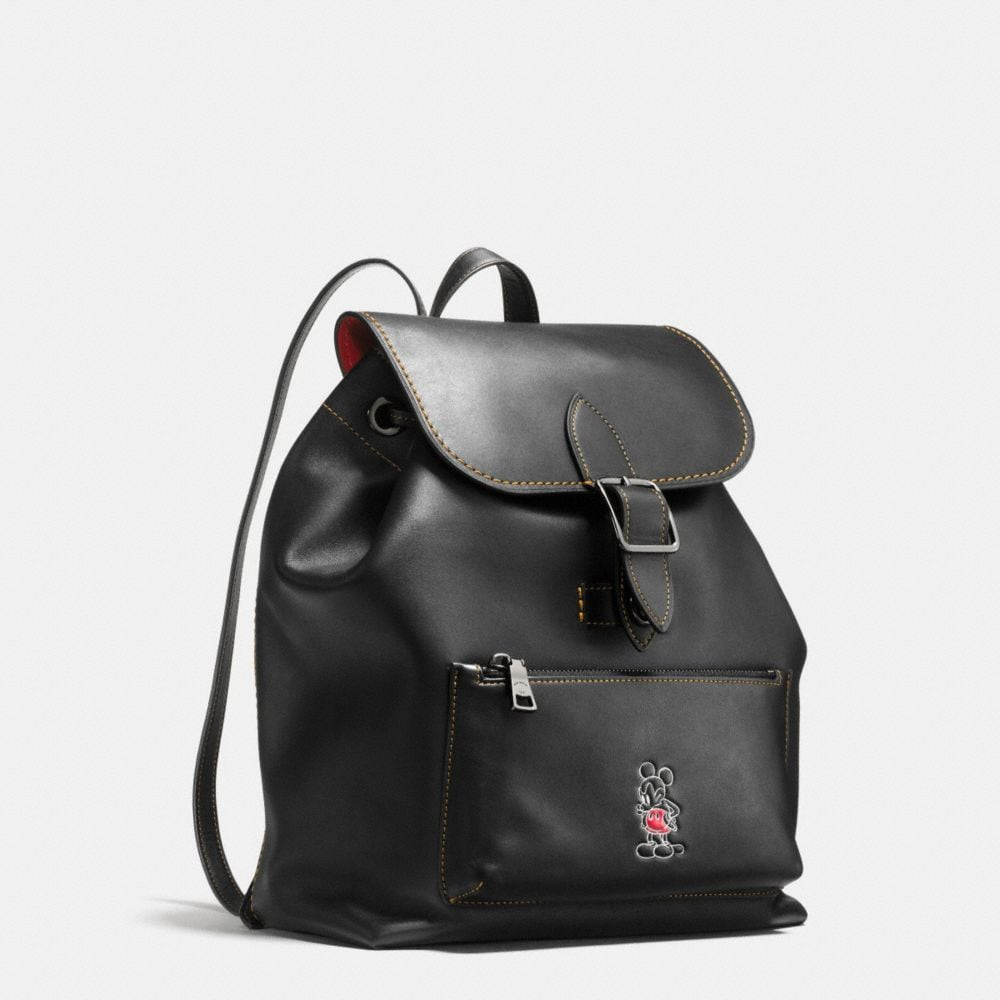 MICKEY RAINGER BACKPACK IN GLOVETANNED LEATHER - Alternate View A3