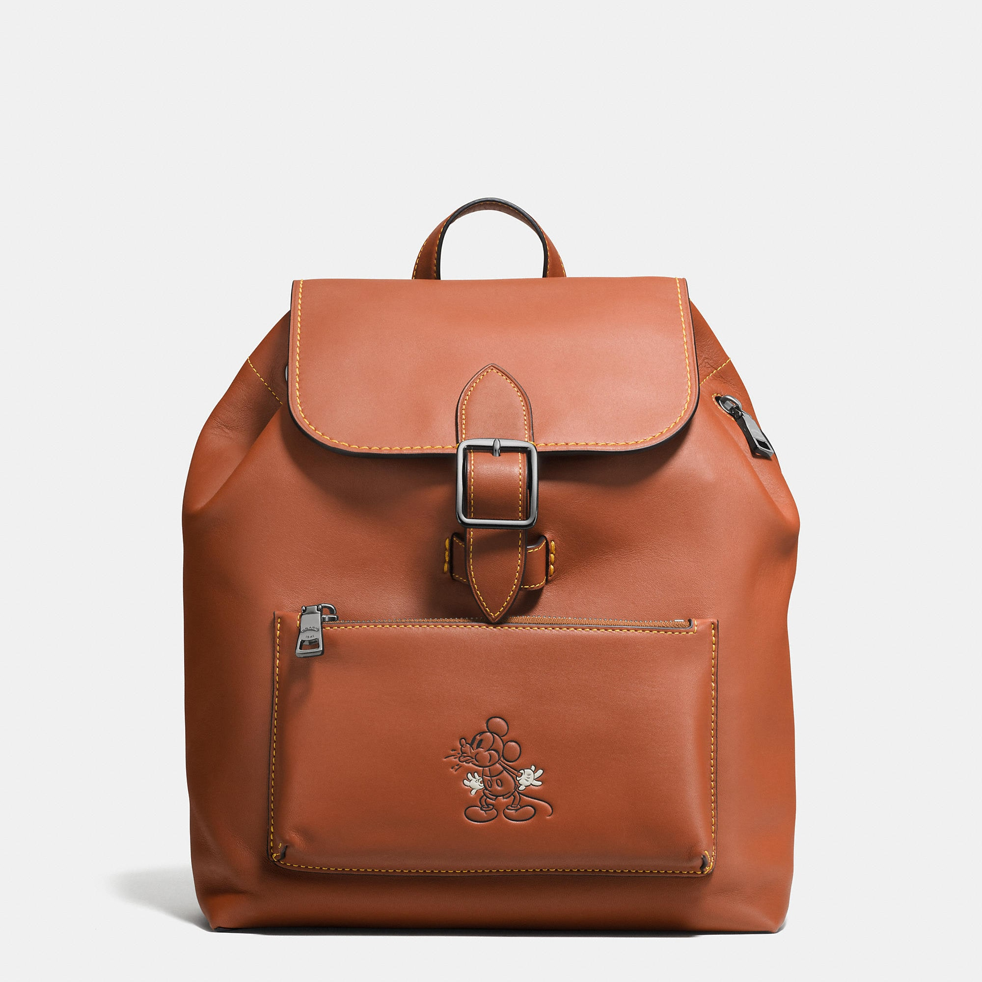 Coach Mickey Rainger Backpack In Glovetanned Leather - Disney