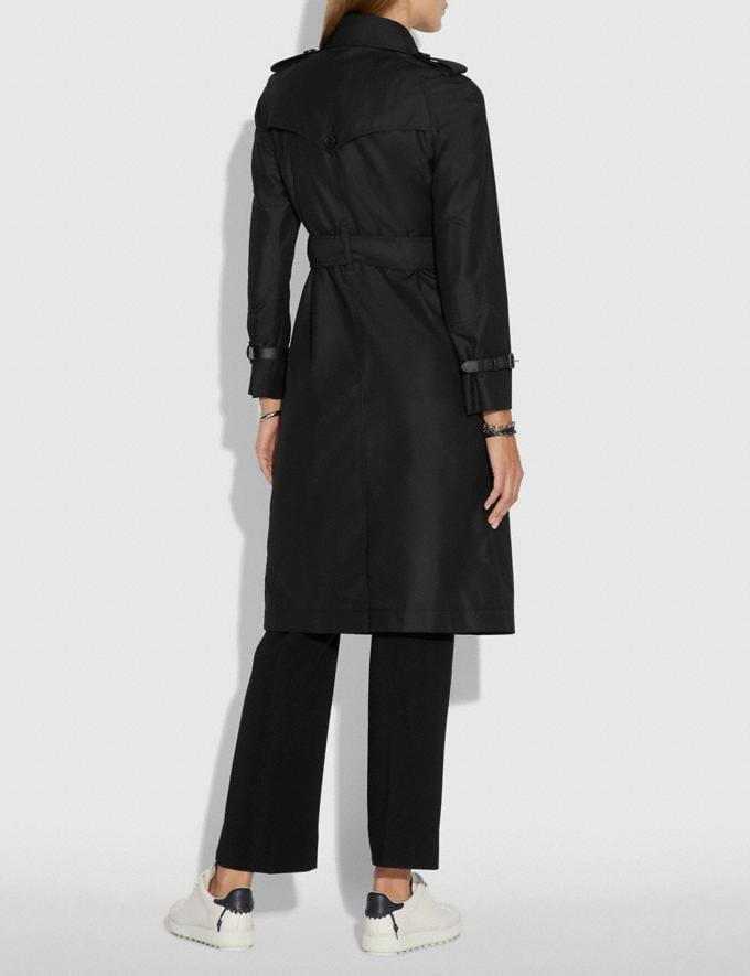 Coach Embellished Trench Coat Black  Alternate View 2