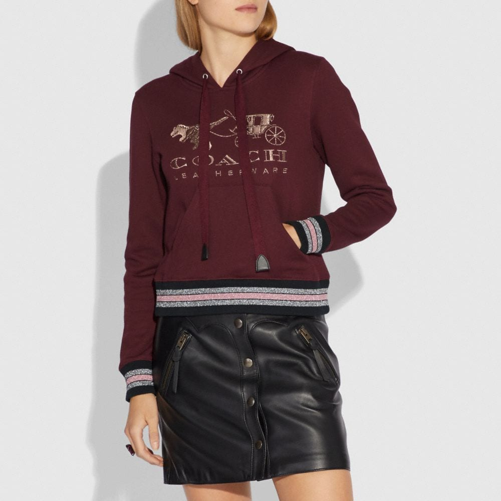 Coach Rexy and Carriage Hoodie Alternate View 1