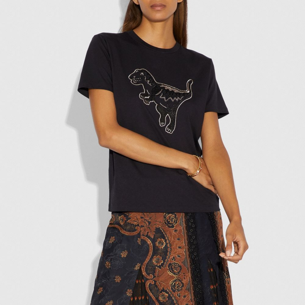 Coach Embroidered Rexy T-Shirt Alternate View 1