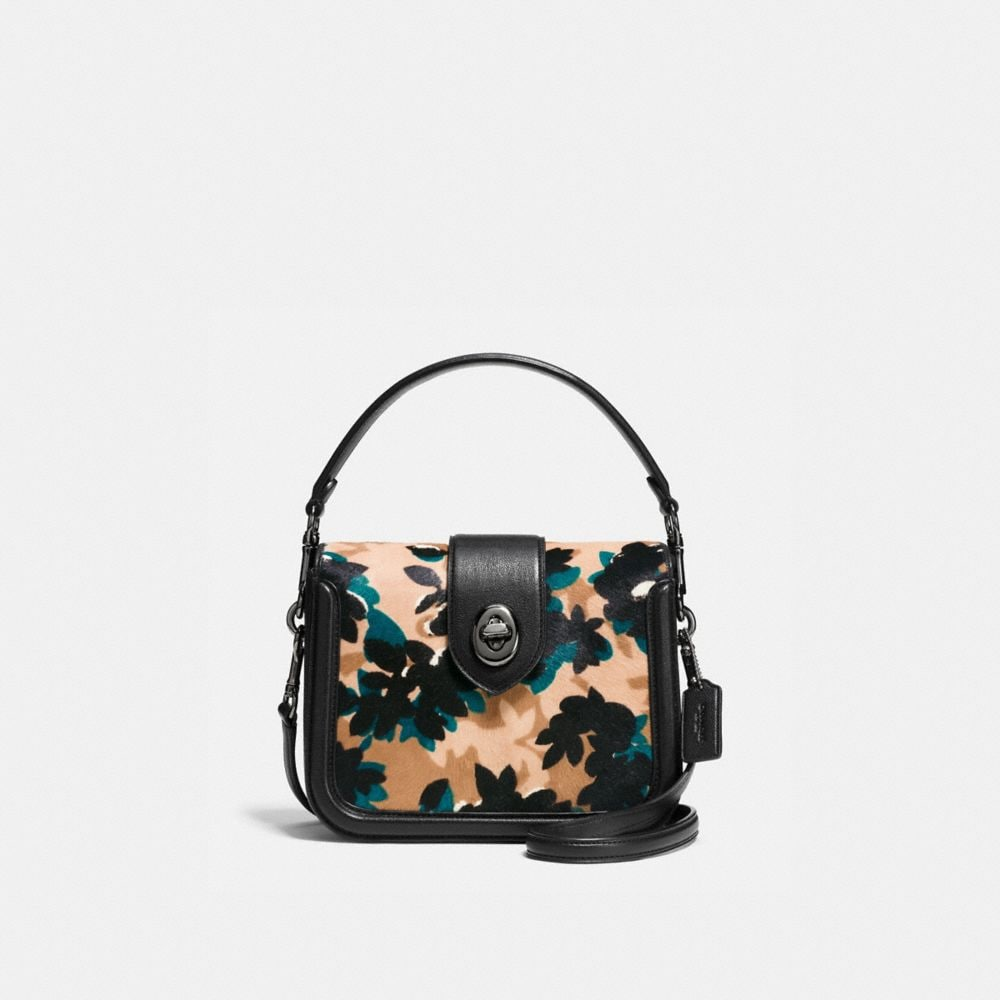 PAGE CROSSBODY IN PRINTED HAIRCALF