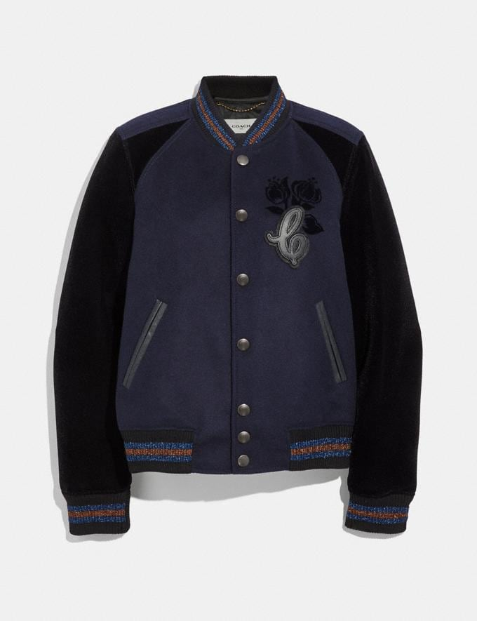 Coach Varsity Jacket Navy