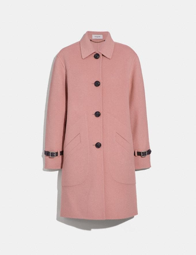 Coach Wool Coat Blush
