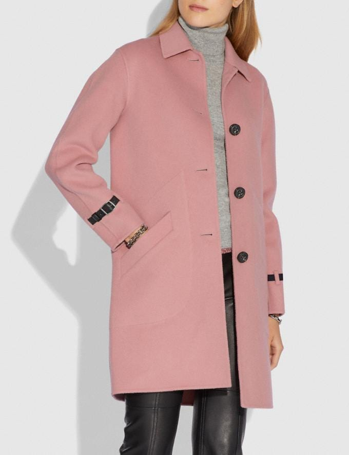 Coach Wool Coat Blush  Alternate View 1