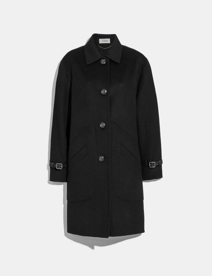 Coach Wool Coat Black