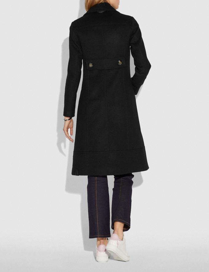 Coach Wool Trench Coat Black  Alternate View 2