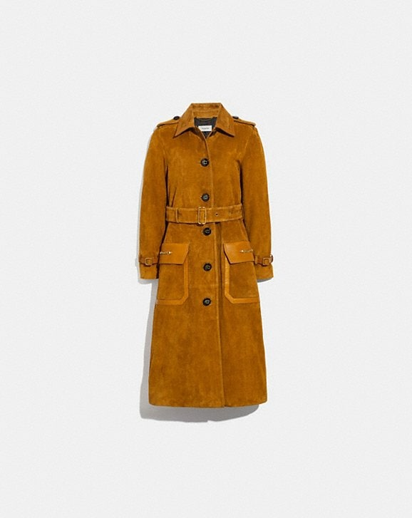 Coach WESTERN SUEDE TRENCH COAT