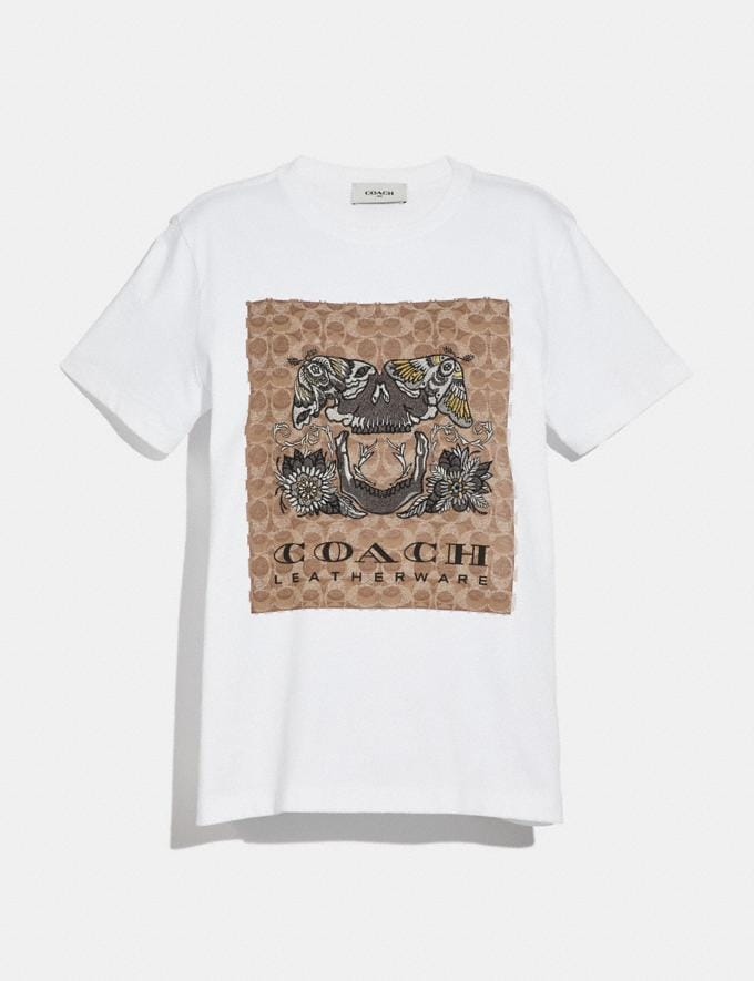Coach Signature Tattoo T-Shirt Optic White