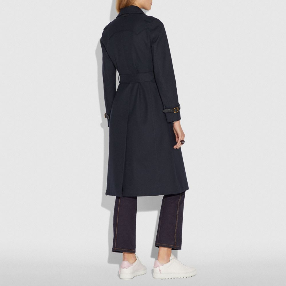 Coach Cotton Trench Coat Alternate View 2