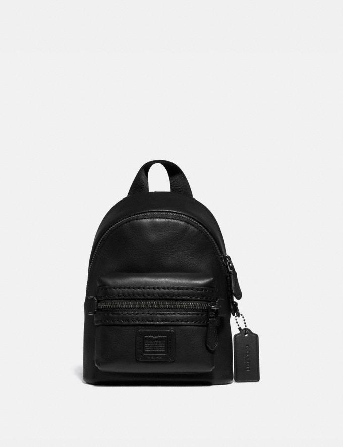 Coach Academy Backpack 15 Black New Men's New Arrivals Bags
