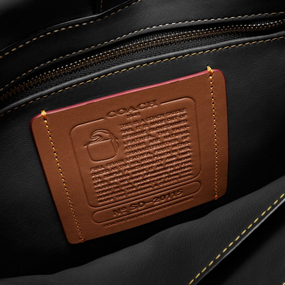 SADDLE BAG 23 IN PATCHWORK LEATHER - Alternate View A1