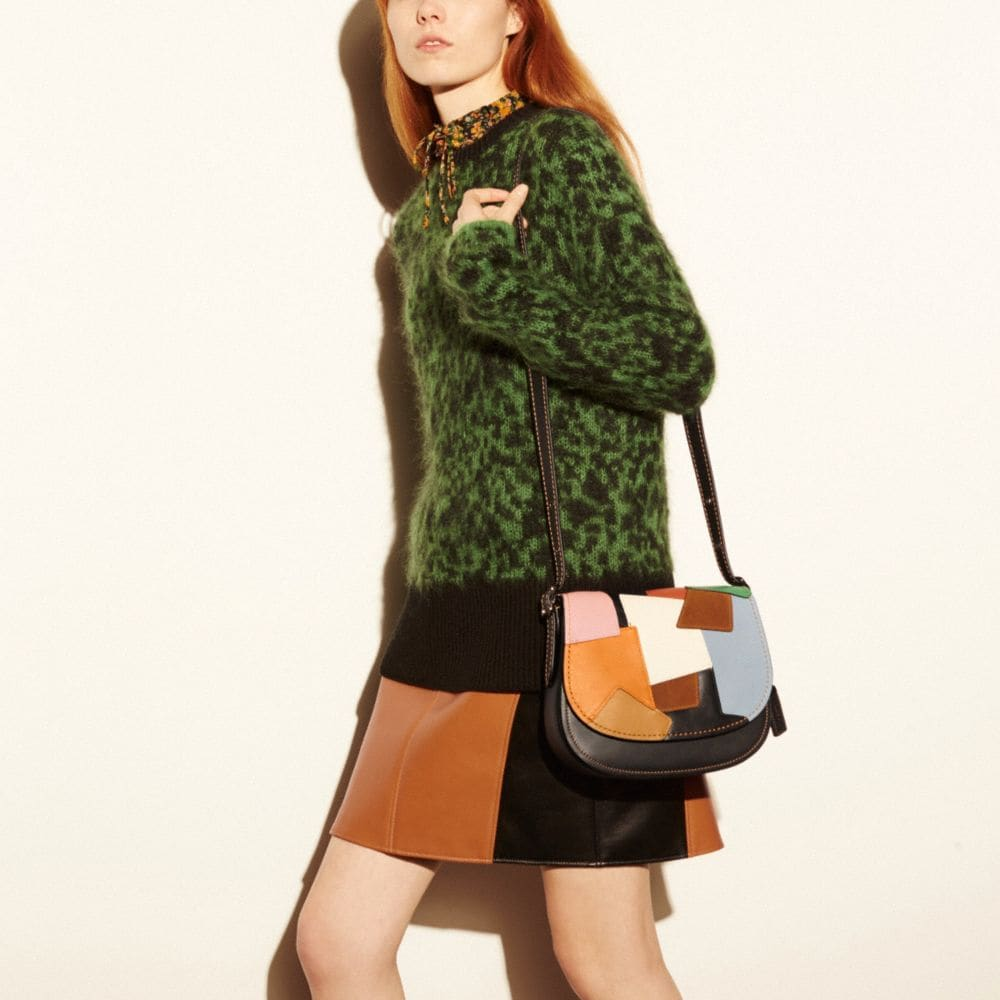 SADDLE BAG 23 IN PATCHWORK LEATHER - Alternate View A5