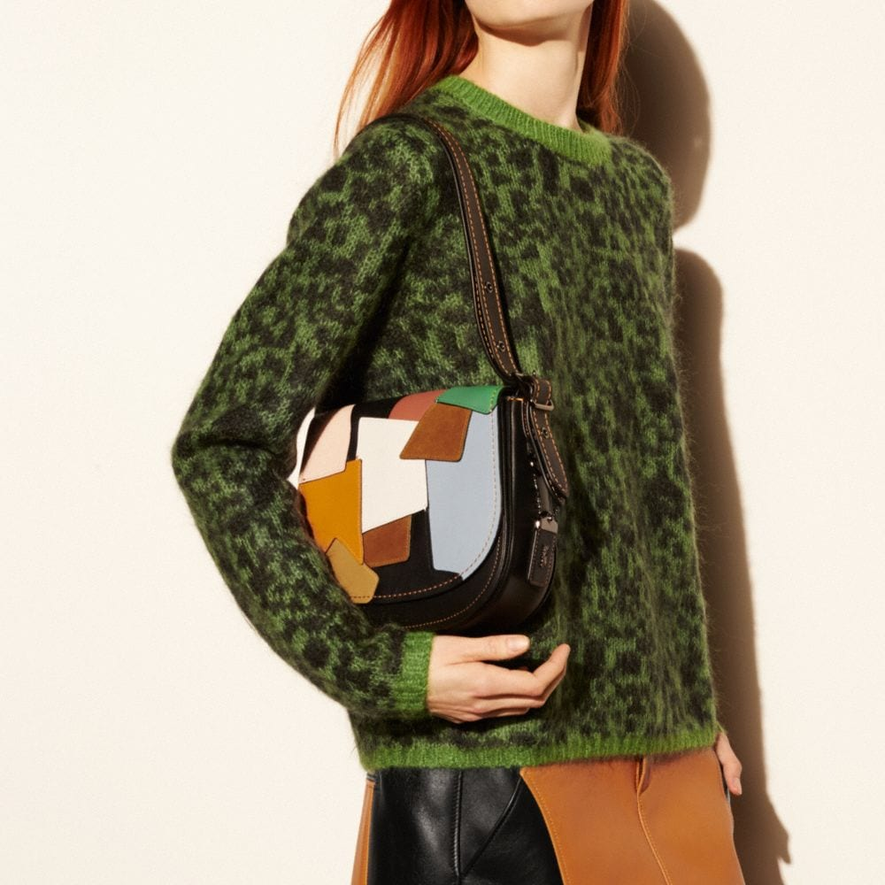 SADDLE BAG 23 IN PATCHWORK LEATHER - Alternate View A6