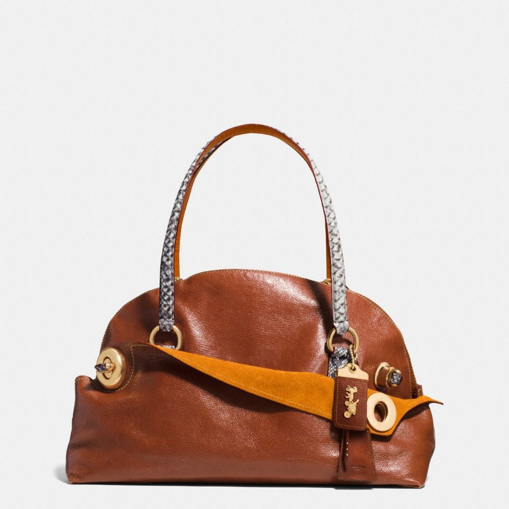 OUTLAW SATCHEL 42 IN COLORBLOCK PYTHON