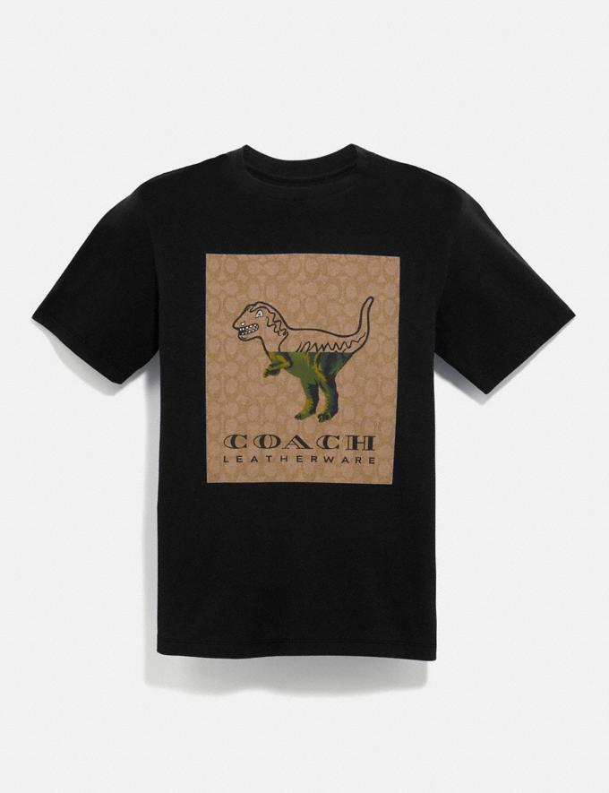 Coach Signature Rexy T-Shirt Black New Men's New Arrivals Ready-to-Wear