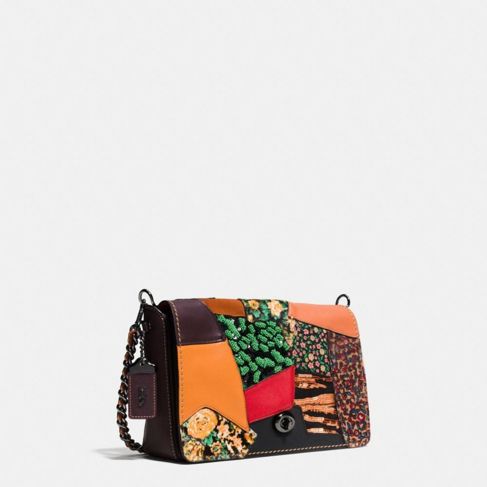DINKY CROSSBODY 24 IN EMBELLISHED PATCHWORK LEATHER - Autres affichages A2
