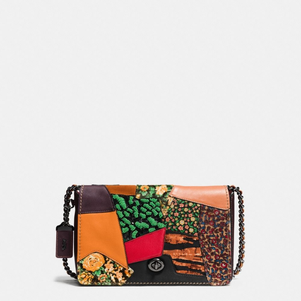 DINKY CROSSBODY 24 IN EMBELLISHED PATCHWORK LEATHER