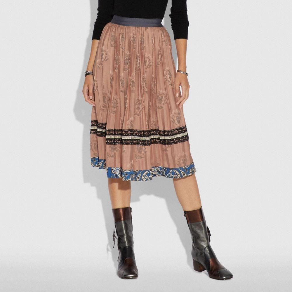 Coach Tulip Print Pleated Skirt Alternate View 1