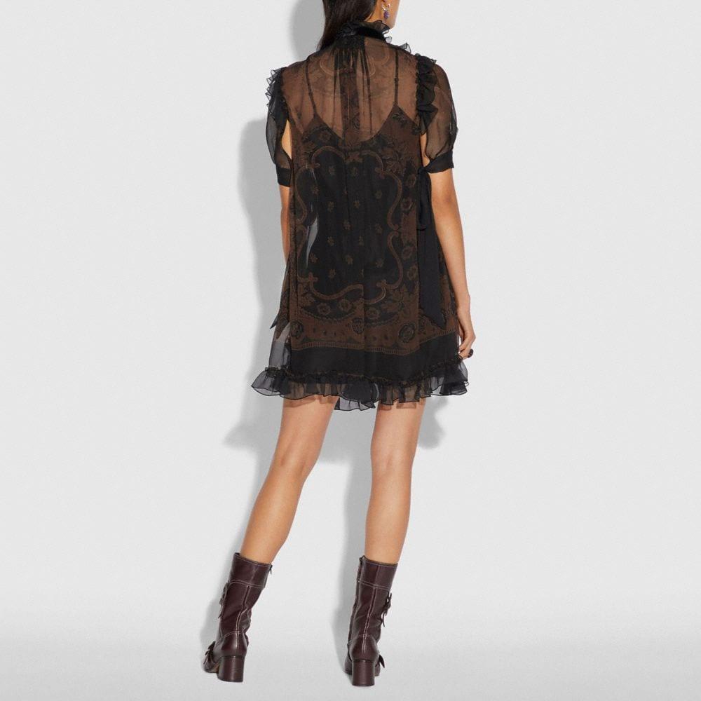 Coach Bandana Print Mini Dress Alternate View 2
