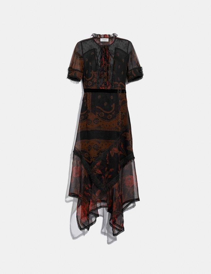 Coach Bandana Print Dress Brown