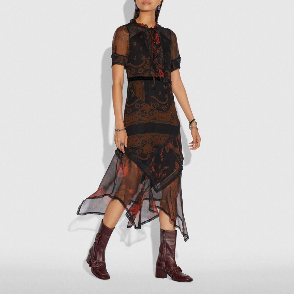 Coach Bandana Print Dress Alternate View 1