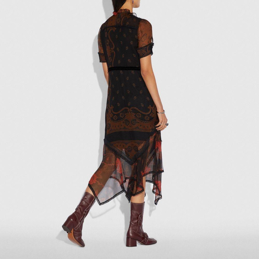 Coach Bandana Print Dress Alternate View 2
