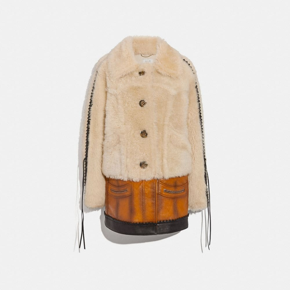 SHEARLING LEATHER COAT