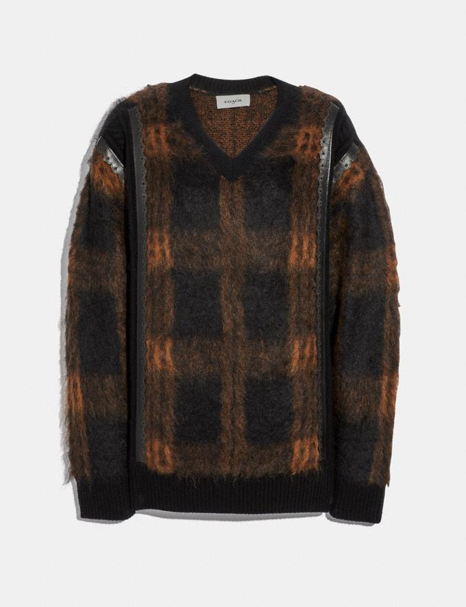 Coach Mohair Sweater Black/Saddle